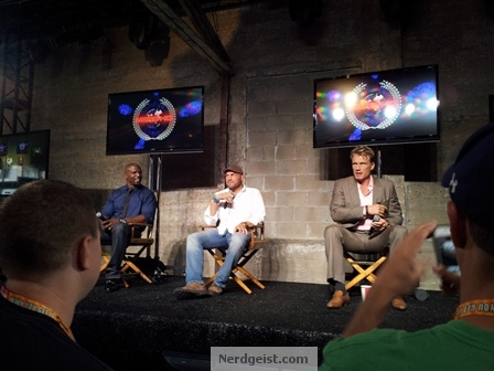 The cast of Expendables 2 at Nerd HQ