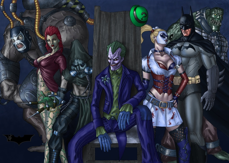 With Killer croc and poison ivy