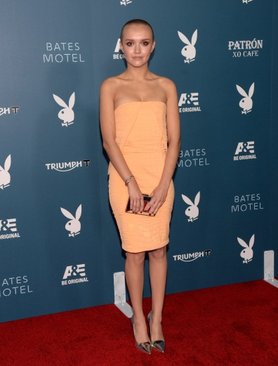 SAN DIEGO, CA - JULY 25:  Actress Olivia Cooke arrives at the Playboy and A&E Bates Motel Event During Comic-Con Weekend, on July 25, 2014 in San Diego, California.  (Photo by Jason Kempin/Getty Images for Playboy)