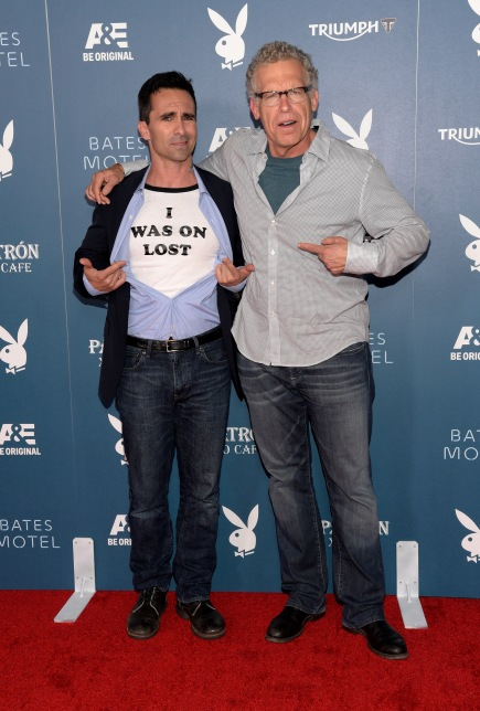 SAN DIEGO, CA - JULY 25:  Actor Nestor Carbonell and producer/writer Carlton Cuse arrives at the Playboy and A&E Bates Motel Event During Comic-Con Weekend, on July 25, 2014 in San Diego, California.  (Photo by Jason Kempin/Getty Images for Playboy)