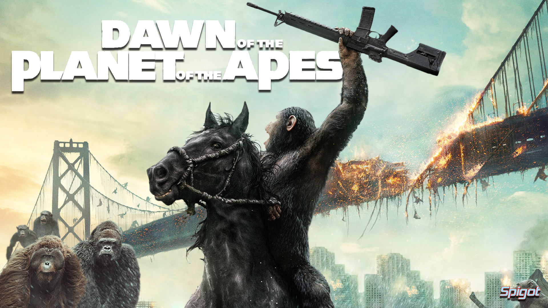 Dawn Of The Planet Of The Apes  (2014) English Full Movie