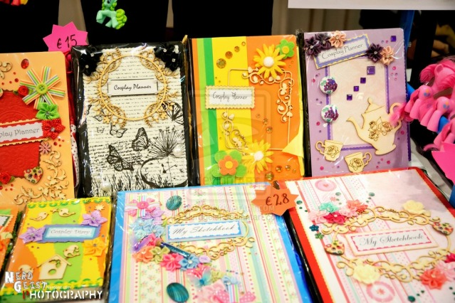 Cosplay Planners/Diaries at Anathiell's table at Nom-Con 2014.
