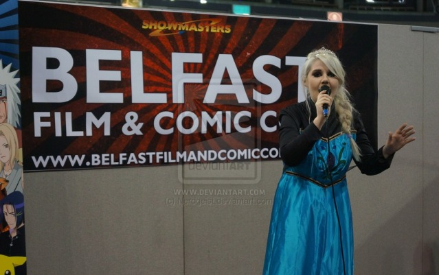 Elsa cosplay at Belfast Film and Comic Con 2014