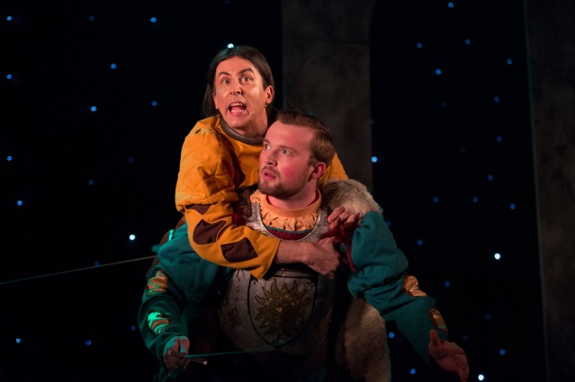 L to R – Tommy Wallace as the Prince's familiar 'Wolf, and Sam T McKee as the valiant Prince  Antoine