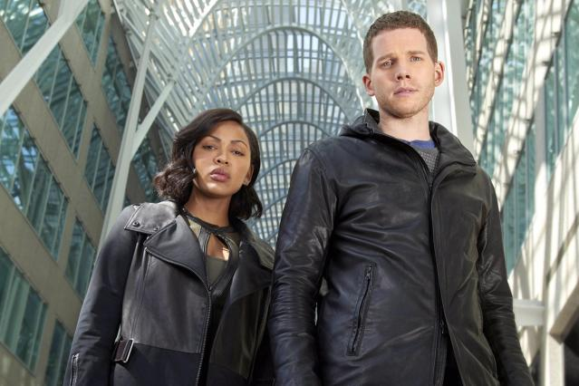MINORITY REPORT: Pictured L-R: Meagan Good as Detective Vega and Stark Sands as Dash. ©2015 FOX Broadcasting Co. CR: Bruce Macaulay/FOX