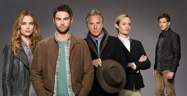 UNTITLED PATE & FISHBURNE PROJECT - Starring Don Johnson as Hap, Chace Crawford as Billy, Rebecca Rittenhouse as Kelly, Delroy Lindo as Tip, Amber Valetta as Carla, Scott Michael Foster as Wick, India De Beaufort as Jules, Yani Gellman as AJ and Caitlin Carver as Lacey. (ABC/Craig Sjodin) REBECCA RITTENHOUSE, CHACE CRAWFORD, DON JOHNSON, AMBER VALETTA, SCOTT MICHAEL FOSTER
