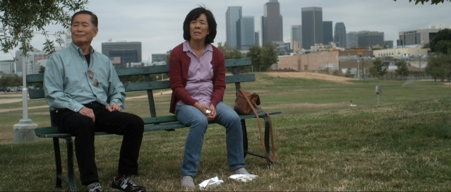 (Left) George Takei, (Right) Sharon Omi - Courtesy of Wolfe Video