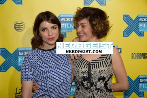 Angela Trimbur and Alia Shawkat at The Final Girls world premiere at SXSW 2015 Film Festival on Friday 13th March.