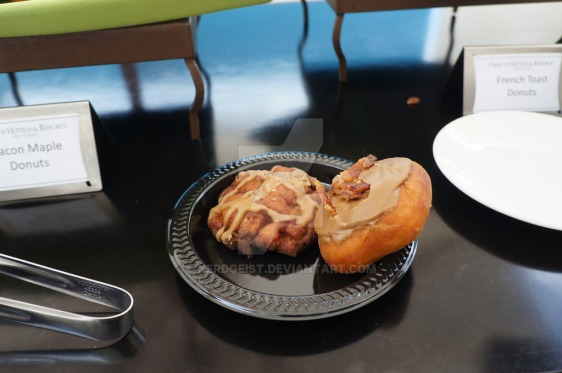 bacon_maple_and_french_toast_donuts_at_wired_cafe_by_nerdgeist-d9293fe