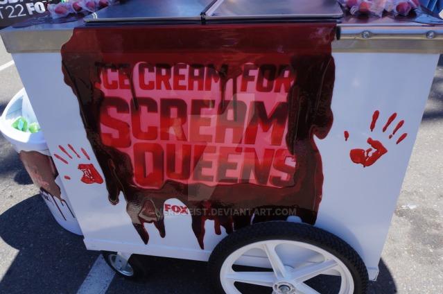 Sceam Queens Ice Cream cart