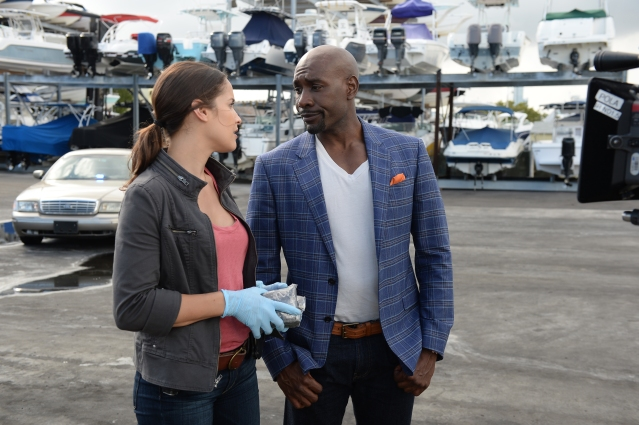 "ROSEWOOD: Morris Chestnut as Beaumont Rosewood, Jr. and Jaina Lee Ortiz as Detective Villa in the ""Pilot"" series premiere episode of ROSEWOOD airing Wednesday, Sept. 23 (8:00-9:00 PM ET/PT) on FOX. ©2015 Fox Broadcasting Co. Cr: Jeff Daly/FOX."