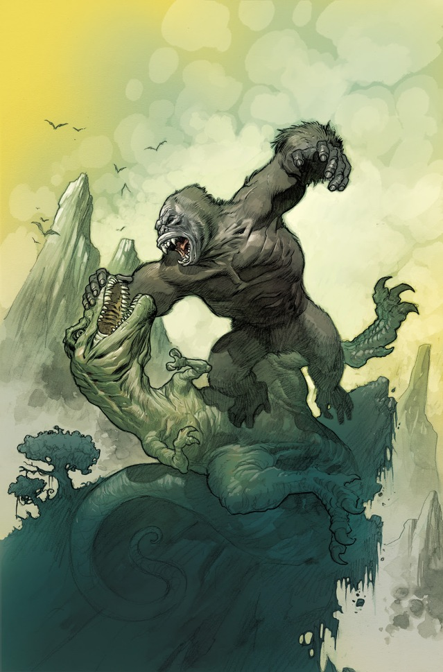 Kong of Skull Island #1 Incentive Cover 2 by Eric Powell