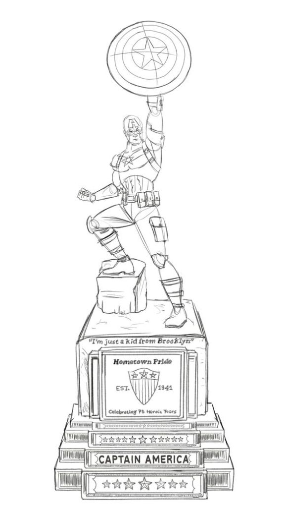 Captain-America-Statue-rough-sketch