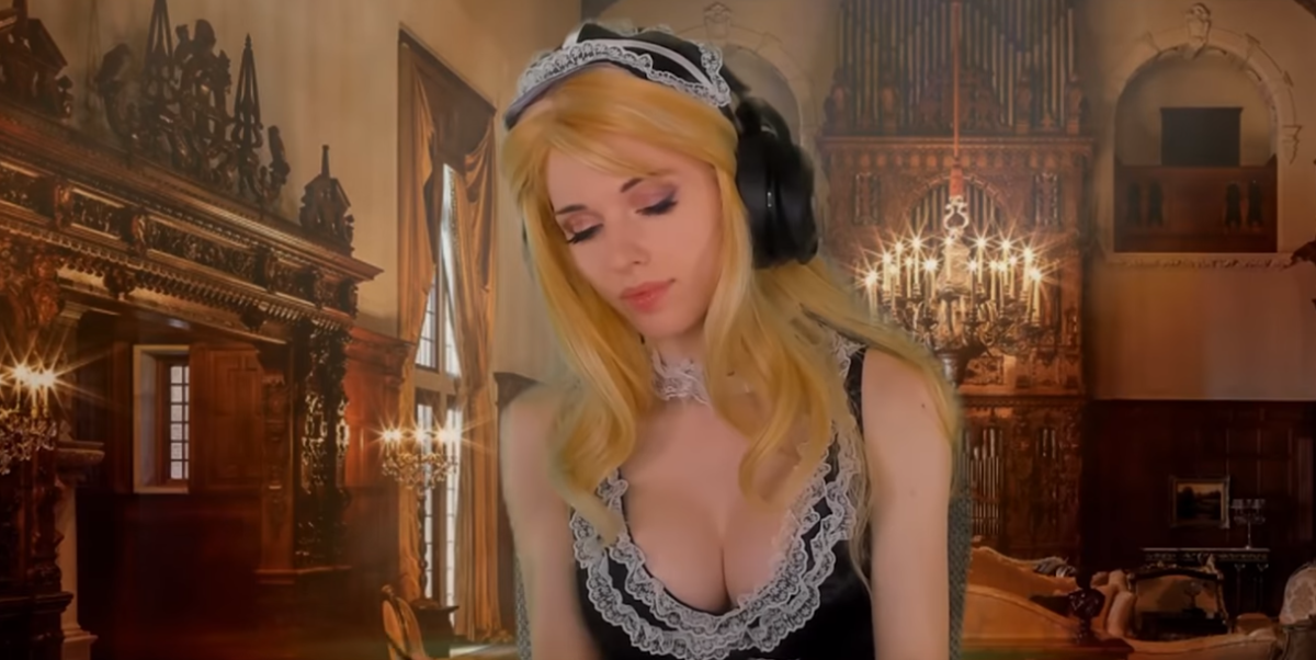Amouranth's Goes Full French Maid In Her Latest Vid