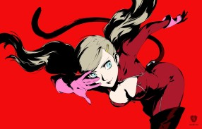 Ann is artwork from videogame Persona 5 by artist Shigenori Soejima and publisher Atlus