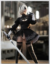 Custom-made-Nier-Automata-cosplay-actress-2B-cosplay-costume-Halloween-anime-dress-Halloween-uniform-free-shipping