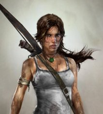 lara croft headshot